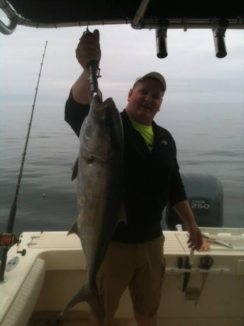 Amber Jack Caught with Hookedup Charters