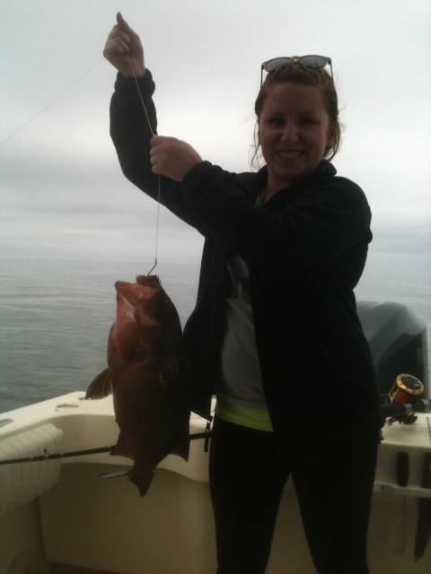 The Lady and the Red Grouper