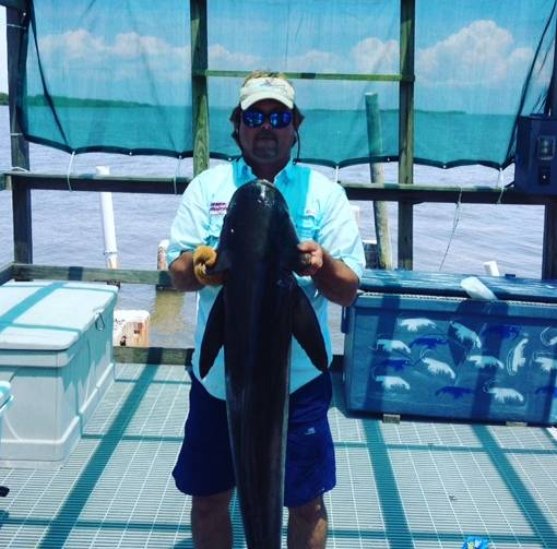 Captain John with 45 lbs Cobia