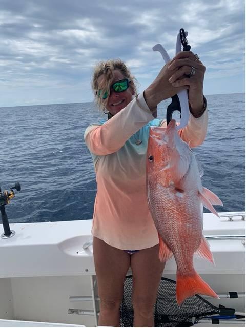 Yeah, she can fish