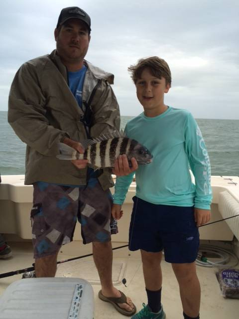 Mr. McKinley with his first sheepshead ever