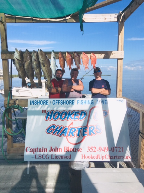 The Cedar Key Prop Shop Guys Catching Dinner With Captain John