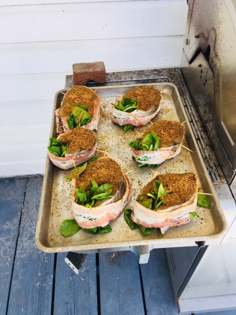 Kingfish steaks for the marina crew