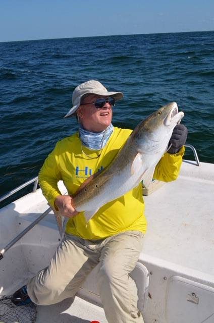 Nice catch n release a huge Redfish