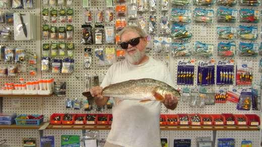 Frank Merillat with Cedar Key Marina's November 2015 Winning Redfish