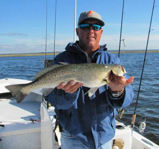 The Author Captain Steve, With A Steinhatchee Speckled Trout