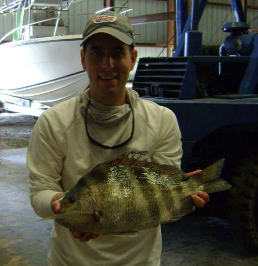 The Mowery Crew with another sheepshead
