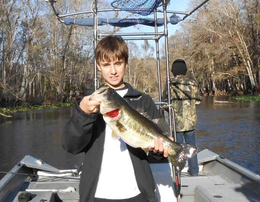 Derick With A Late December Ocklawaha Largemouth Bass