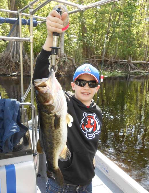 Joe from Ohio with his first Ocklawaha Largemouth