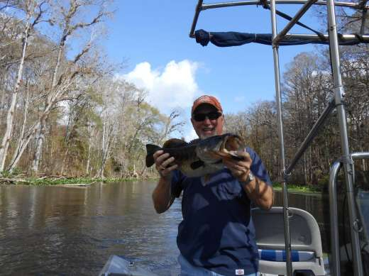 Wayne Woodward With Another Ocklawaha Largemouth
