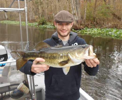 Tom, from Kent, England, showing off another Ocklawaha lunker
