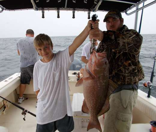 Ceder Key Red Grouper Caught with Hookedup Charters