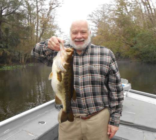 David with his 8 lb. Bass, one of 20 caught and released, Boat record for a single angler!