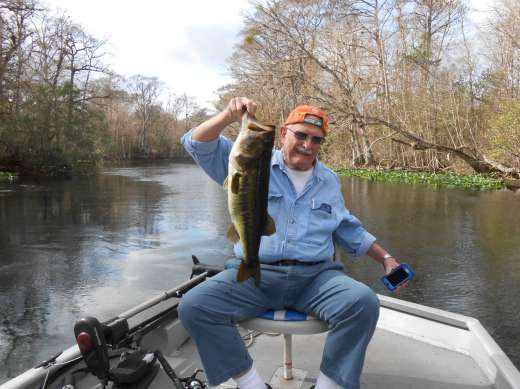 Don Liske with a 8 lb. Bass
