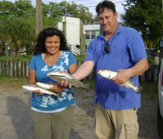 Mr. & Mrs. Cozart caught some nice trout near Snake Key