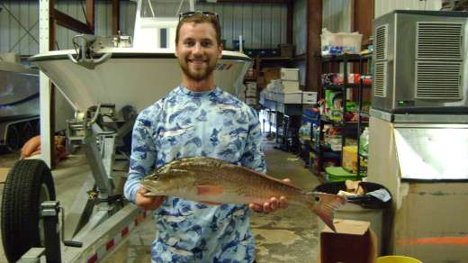 Austin with a nice 6.5lb Redfish