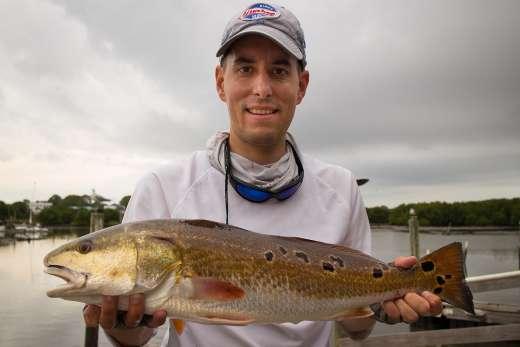 The Redfish that Won Cedar Key Marina's November 2015 Fishing Tournament