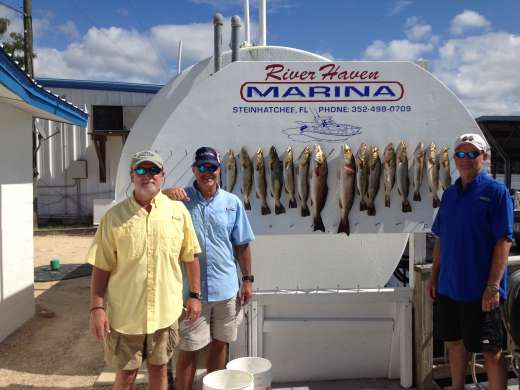 The Gang and Their Catch at River Haven Marina in Steinhatchee