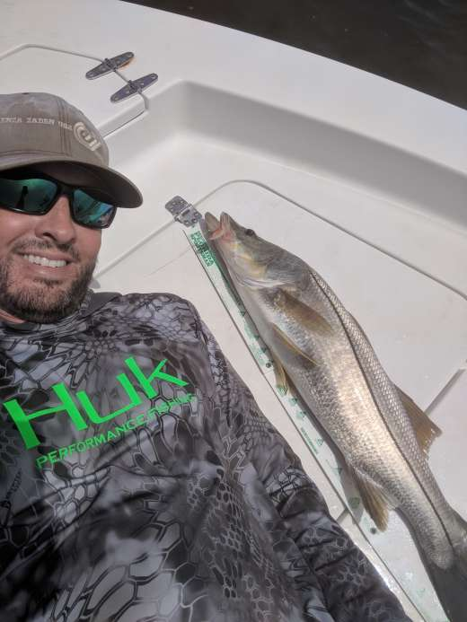 Lance may have caught the last Snook of the season