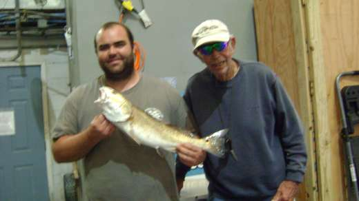 Mr. W. with a nice Cedar Key Redfish