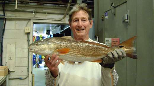 Mr Feiber with a nice Redfish, atta boy