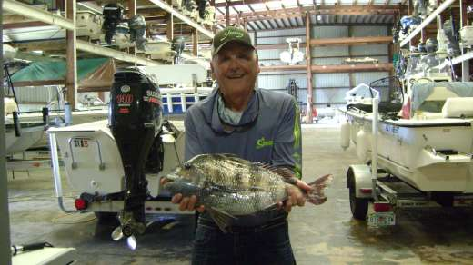Russ Roy for big fish contest w 7.5 LB Sheepshead