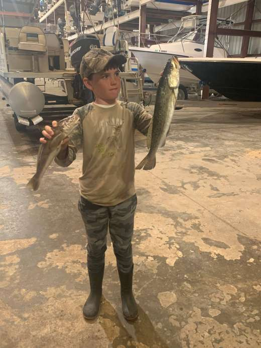 Seth showing off his big Speckled Trout