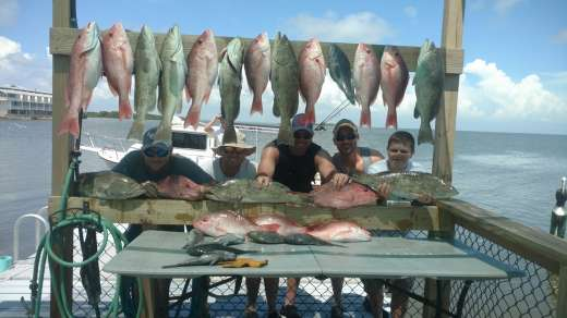 The Voyles crew on opening day with Captain John,woo hoo