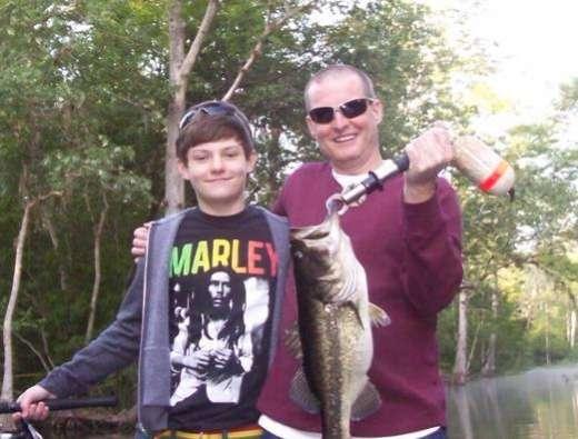Bill And Bill Jr. with a nice Ocklawaha Bass