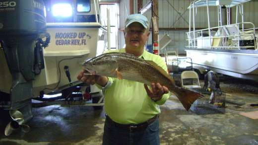 Gary  with a beauty of a Redfish, welcome back brother