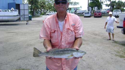 John w a nice trout caught with Captain Pauly