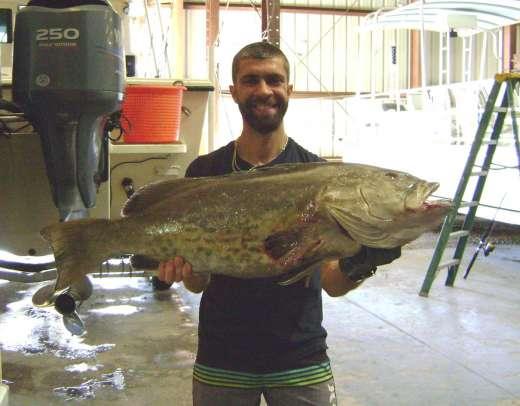 Marc Aqua Man with a whooper 25 lb Gag Grouper
