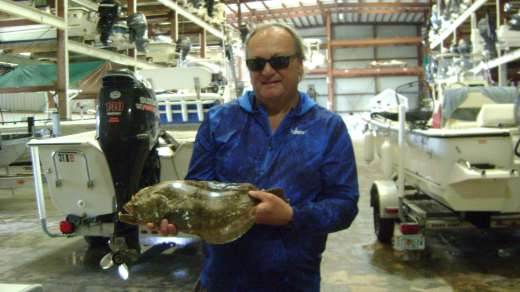 Mr. Buckley with a nice flounder for dinner