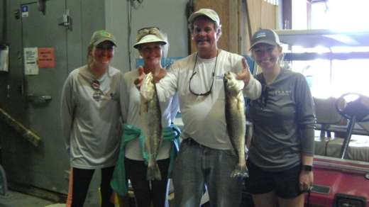 Mr H's family with a nice catch for the day