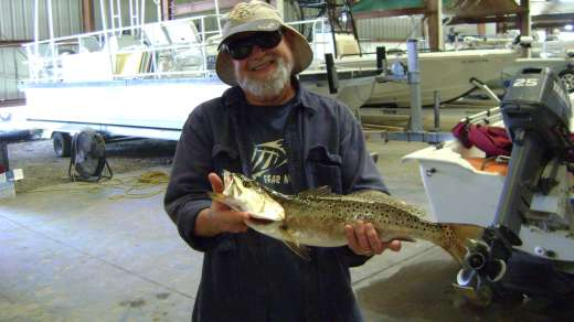 Mr. Merillat with a 3.75 lb trout, you go boy