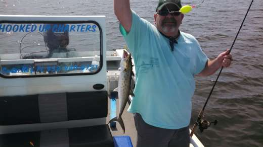 Nice trout caught with captain Kyle