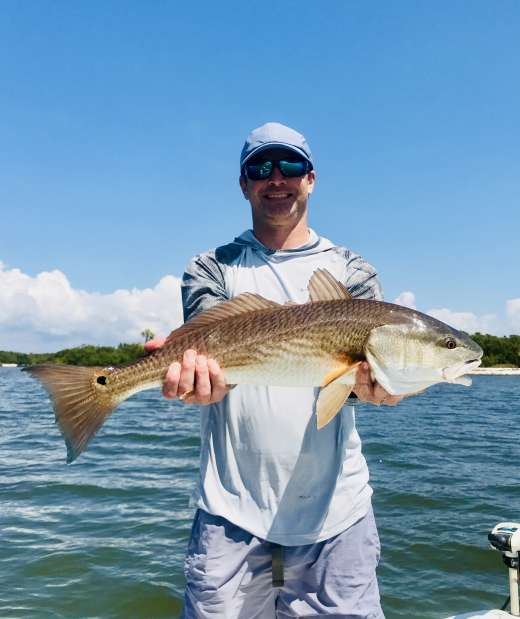 Mr W. with another huge keeper redfish, thataboy!