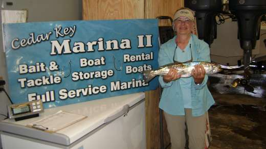 Mrs K Wth A Nice Trout, Caught Out Of Her New Key West Boat, You Go Girl !!!