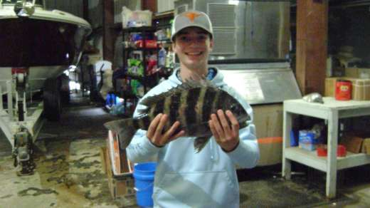 Mr. Ross with a nice 4.5lb CedarKey sheepshead