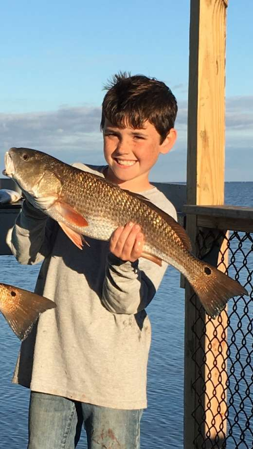 Seth turned black Friday into Redfish Friday, that's 1 happy big man
