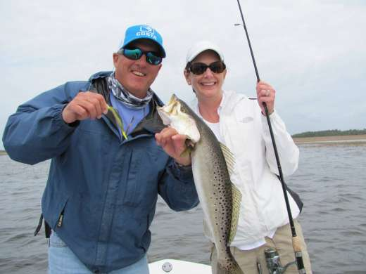 Ms. Lisa caught this nice Steinahatchee Speckled trout