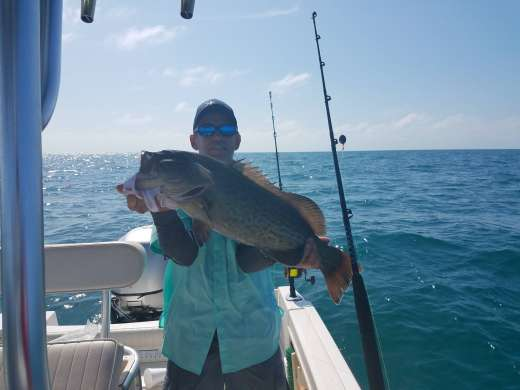 Donnie with a fine Gag Grouper