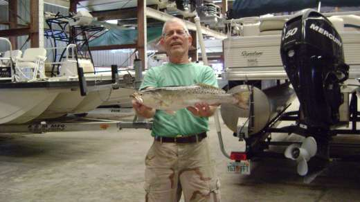 Victor with with a fine Speckled Trout