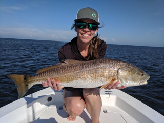 Sara proving she still has it with this nice Cedar Key Redfish