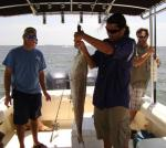 Showing Off A Cedar Key Redfsih On A Recent Trip With Hookedup Charters