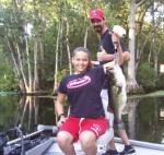 Brittany, caught an 8.5 lb. Oklawaha Largemouth on her second cast