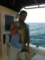 Captain John With A Cedar Key Grouper