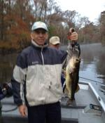 Tony With A December Ocklawaha Largemouth Bass