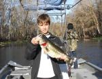 Derick With A Late December Ocklawaha Largemouth Bass