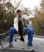 Richard James with an Ocklawaha Largemouth Bass